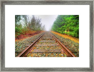 Tracks Through My Heart Framed Print by Spencer McDonald
