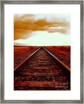 Marfa Texas America Southwest Tracks To California Framed Print