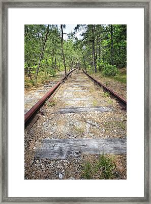 Tracks To Nowhere Framed Print by Tim Doubrava