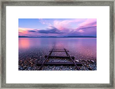 Framed Print featuring the photograph Tracks To Tahoe by Brad Scott
