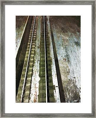 Tracks Framed Print by Tony Rubino