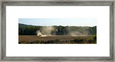 Framed Print featuring the photograph Tracteur Enfume by Marc Philippe Joly