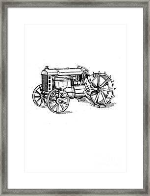 Tractor 1919 Henry Ford T-shirt Framed Print