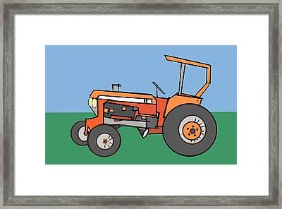 Tractor 2 Framed Print by Denny Casto