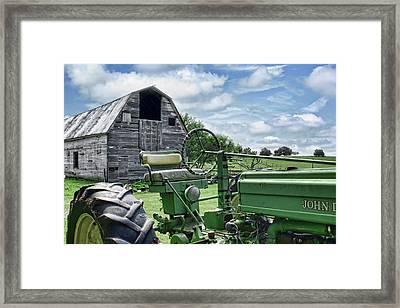 Tractor Barn Framed Print