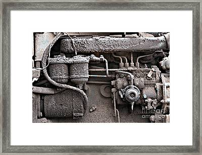 Framed Print featuring the photograph Tractor Engine II by Stephen Mitchell