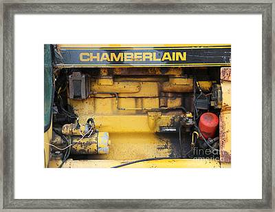 Framed Print featuring the photograph Tractor Engine Iv by Stephen Mitchell
