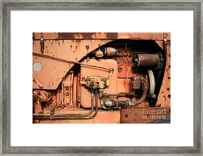 Framed Print featuring the photograph Tractor Engine V by Stephen Mitchell