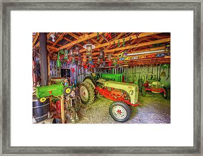 Tractor Garage Framed Print by Paul Freidlund