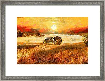Tractor In A Field Framed Print