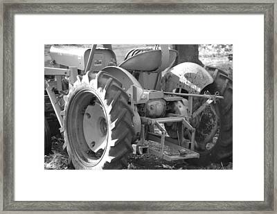 Tractor In Black And White  Framed Print by Peter  McIntosh