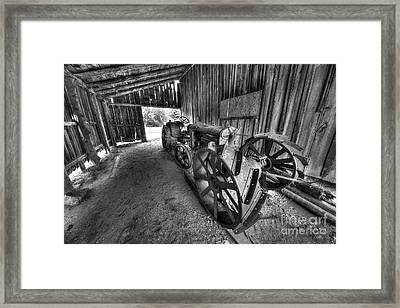 Tractor In Port Oneida Framed Print by Twenty Two North Photography