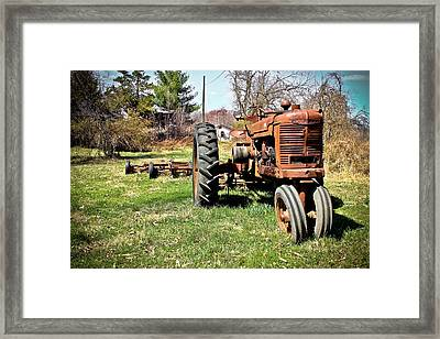 Tractor In The Country Framed Print