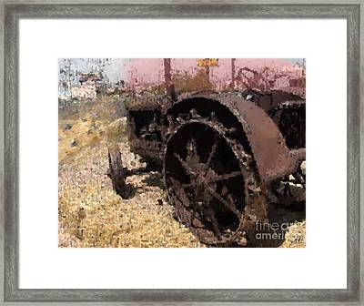 Framed Print featuring the digital art Tractor by Kelly McManus