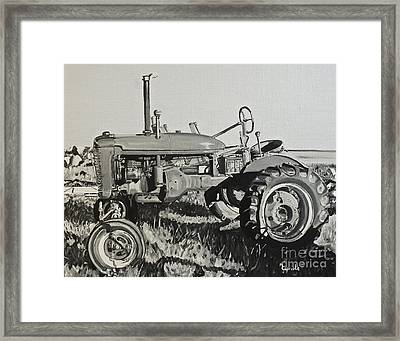 Tractor Framed Print by Mary Capriole