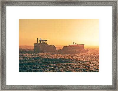 Tractor Morning Glow Framed Print by Todd Klassy