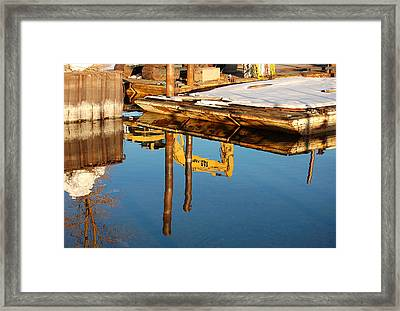 Tractor Reflections Framed Print by Heather S Huston