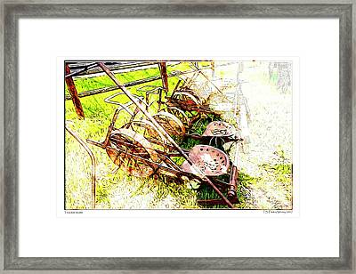 Tractor Seats Framed Print