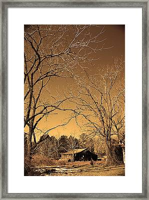 Tractor Shed II Framed Print by Patricia Motley