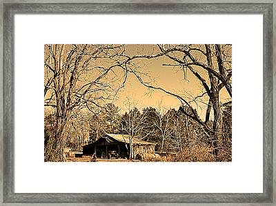 Tractor Shed Framed Print by Patricia Motley