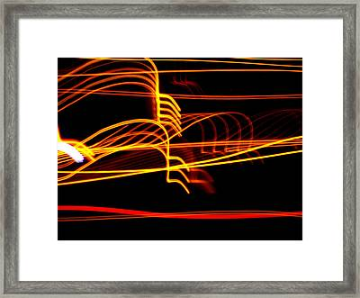 Framed Print featuring the photograph Tractor Trailer Tremors by David Dunham