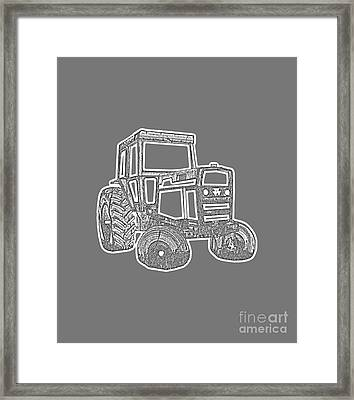 Tractor Transparent Framed Print