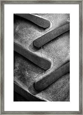 Tractor Tread Framed Print