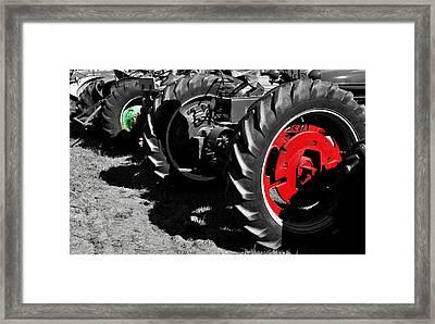 Tractor Wheels Framed Print