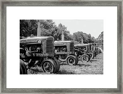 Tractors Framed Print