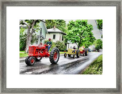 Tractors On Parade Framed Print