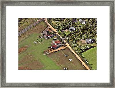 Trade Wind Airport Marthas Vineyard Massachusetts Framed Print by Duncan Pearson