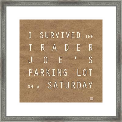 Trader Joe's Parking Lot Framed Print
