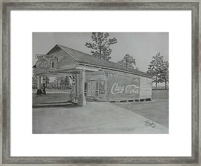 Traders Framed Print
