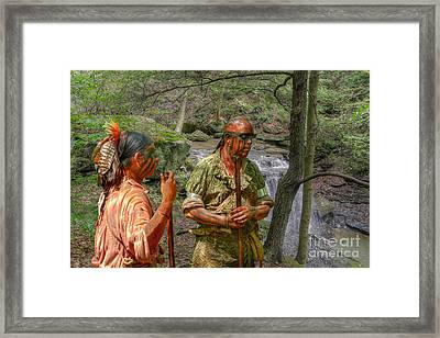 Trading News Framed Print by Randy Steele