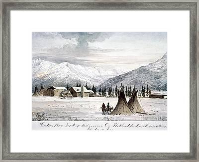 Trading Outpost, C1860 Framed Print