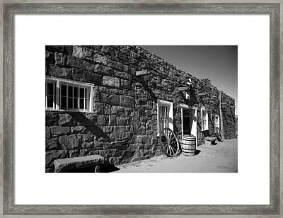 Trading Post Framed Print by Timothy Johnson