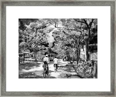 Tradition Vs Modernism Framed Print by Eileen  Fong