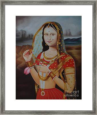 Traditional Art Monalisa Oil Painting On Canvas Art N India Art Gallery Framed Print