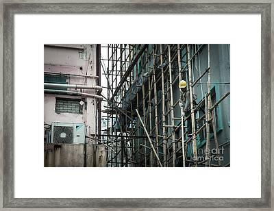 Traditional Bamboo Scaffolding Hong Kong Framed Print