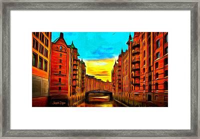 Traditional Buildings - Da Framed Print by Leonardo Digenio