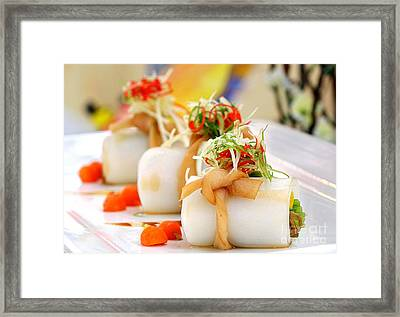 Traditional Chinese Hakka Rice Noodle Roll Framed Print by Yali Shi