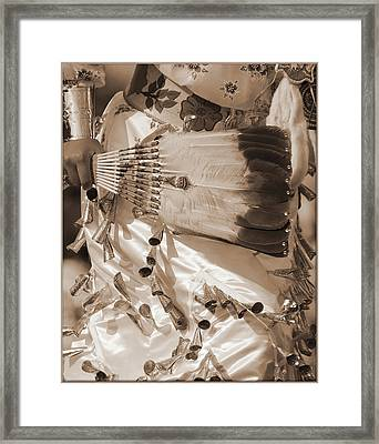 Framed Print featuring the photograph Traditional Dancer In Sepia by Heidi Hermes
