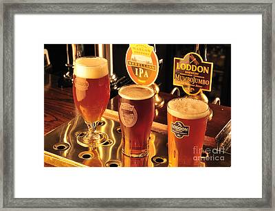 Traditional English Beers Framed Print by Andy Smy