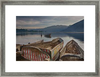 Traditional Fishing Framed Print