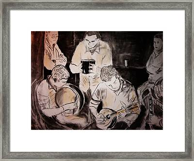 Traditional Irish Music Session Framed Print by Gerard Dillon