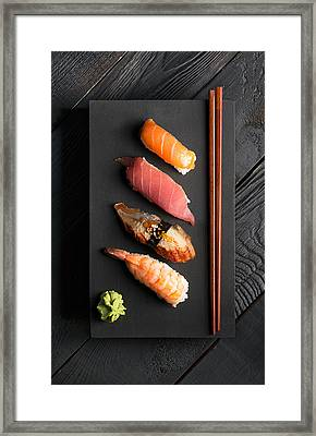 Traditional Japanese Sushi  Framed Print