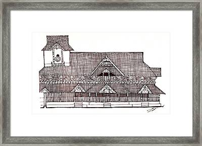 traditional Kerala house Framed Print