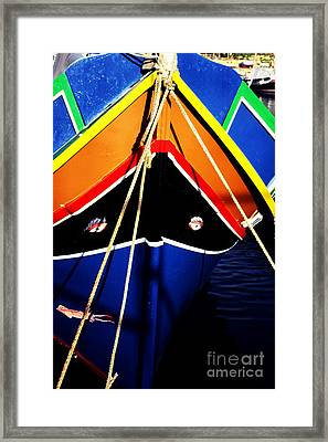 Traditional Maltese Fishing Boat Framed Print by Thomas R Fletcher