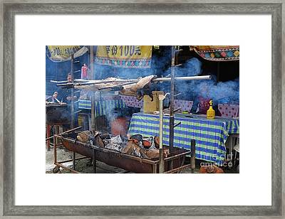 Framed Print featuring the photograph Traditional Market In Taiwan Native Village by Yali Shi