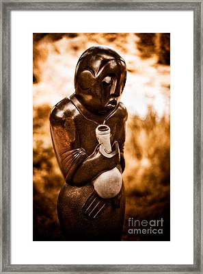 Traditional Medicine Healer Framed Print by Venetta Archer
